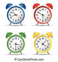 vector, belleza, ilustración, reloj