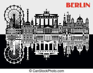 Vector Berlin Skyline