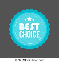 Vector Best Choice Metal flat badge, Round Label