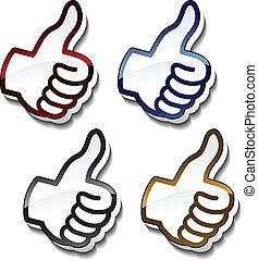 Vector best choice pointers - gesture hand