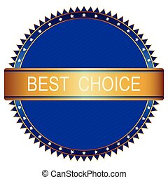 Vector best choice red label