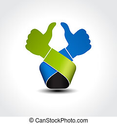 Vector best choice symbol - gesture hand, like icon, okay -...