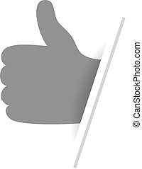 Vector best choice symbol - hand gesture. Monochrome design.