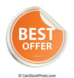 Vector Best offer label  sticker