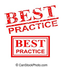 Best Practice, 2 style streak red rubber stamp