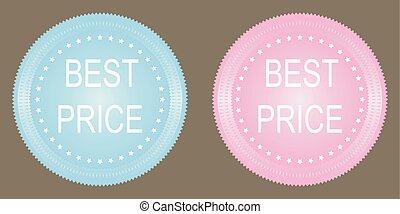 Vector best price button