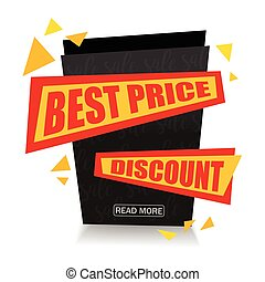Vector Best Price Sale Paper Banner Design. Sale background. Discount tag. Sale Background Illustration for Promotional brochure,booklet,poster, shopping flyer, discount banner.