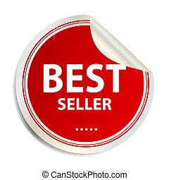 Vector Best seller label  sticker