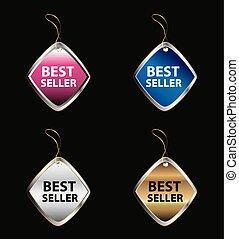 Vector Best Seller label tag