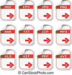 vector, bestand, iconen
