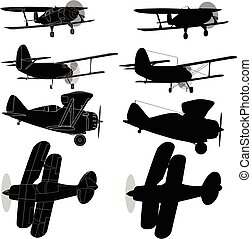 vector., bi, avión, isolated.