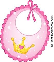 Vector Bib for Princess Baby Girl