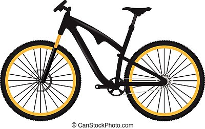 vector, bicicleta, ilustración