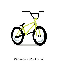 Vector Bicycle Cartoon Illustration.