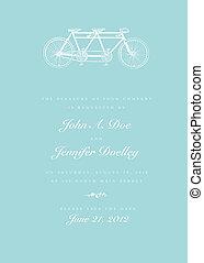 Vector Bicycle Invitation