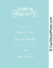 Vector Bicycle Invitation