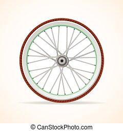 Vector Bicycle vintage wheel
