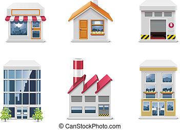 vector, bienes raíces, icons., p.1