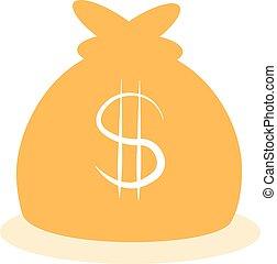 vector big money bag