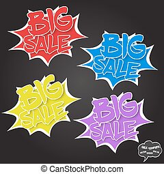 Vector Big sale concept in comics bubbles