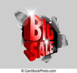 Vector Big sale discount advertisement