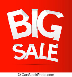Vector Big Sale Sticker - Label on Red background