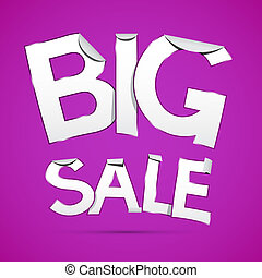 Vector Big Sale Sticker - Label on Violet Background
