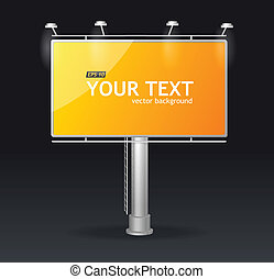 Vector billboard screen template concept - Vector yellow...