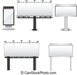 Vector billboards - Set of different billboards isolated on...