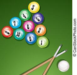 vector billirad table with balls