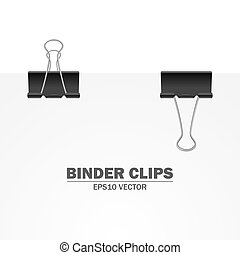 Vector binder clips