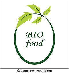 Vector bio food logo and symbol. Eco logo