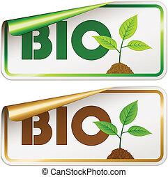 vector bio stickers