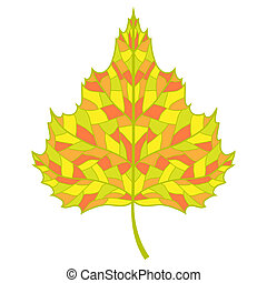 Vector birch leaf.