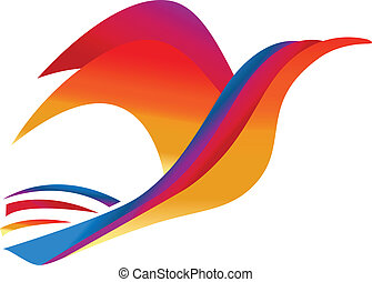 Vector Bird colorful symbol logo