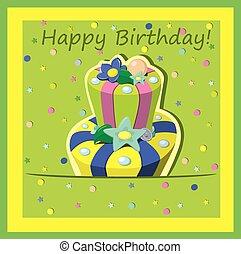 Vector birthday cake