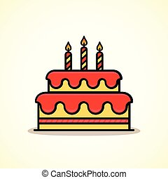 Vector birthday cake icon design