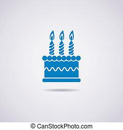 vector birthday cake icon