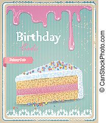 Vector Birthday Cake Sign