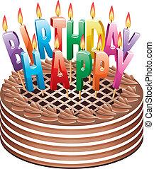 birthday chocolate cake - vector birthday chocolate cake...