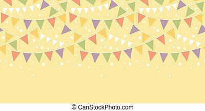 Birthday Decorations Bunting Horizontal Seamless Pattern - ...