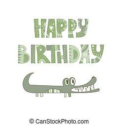 Vector Birthday Greeting Card