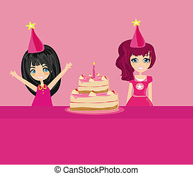 Vector birthday party