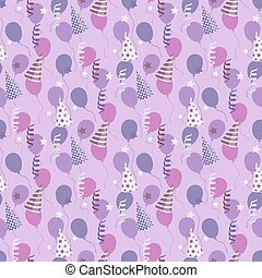 Vector birthday pattern with balloons