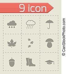 Vector black academic icon set