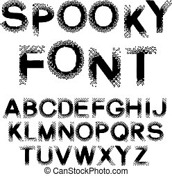 Halftone effect numbers  dotted font vector  dotted embossed numbers