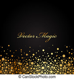 Vector black and gold luxury background