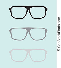 Vector black and grey glasses set