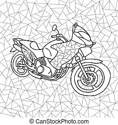 vector black and white illustration of a motorcycle
