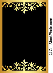 black background with gold ornament